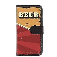 PU手帳型 カードタイプ スマホケース TONE e20 用 BEER ビール・レッド ビンテージ アメリカン レトロ USA トーンモバイル イー トゥエンティ SIMフリー スマホカバー 携帯ケース スタンド beer 00k_191@04c