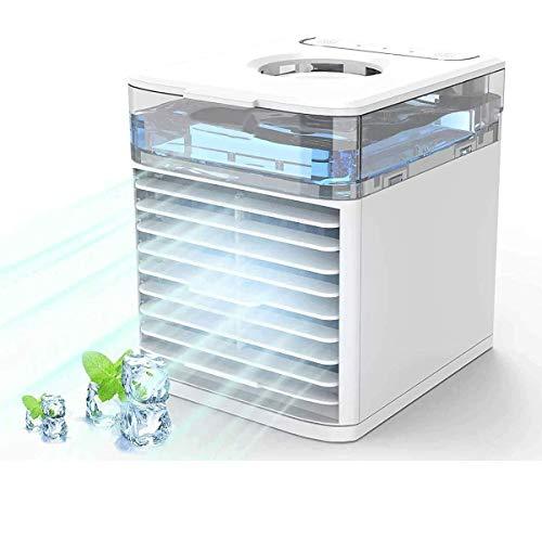 MILIER Portatil Enfriador de Aire NEXFAN Air Cooler con Luz LED de Colores Enfriador Evaporativo para el Hogar, la Oficina, los Viajes
