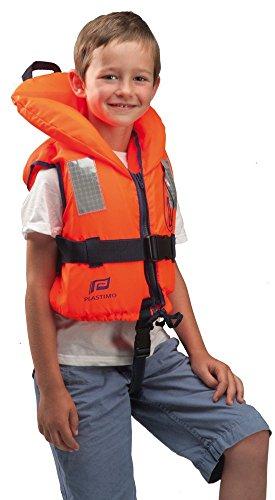PLASTIMO Baby/Kinderen reddingsvest Typhoon 100 N, kleur oranje, maat 3-10 kg, 58614