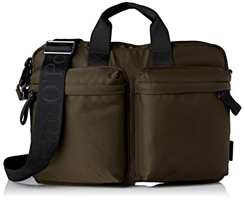 Marc O\'Polo Herren Louin Business Bag M, Olive Green, OS