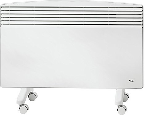 AEG Haustechnik AEG Standkonvektor WKL 2003 F, für ca. 20 m², mit Rollen, mechanischer Temperaturregler, Umkippschutz, stufenlose Temperaturwahl 6-30 °C, 229799, 2 W, 230 V, Weiß, 2000 W