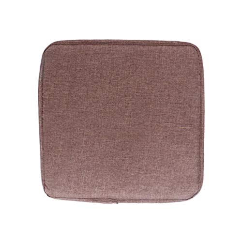 HJUYT 1/2/4pcs Non-slip Sofa Seat Cushion Solid Color Square Seat Pad Chair Cushion Soft Pillow For Padchair Chairs 40x40cm,Brown without ribbon,2pcs