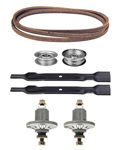 John Deere 100 Series 42' Mower Deck Parts Rebuild Kit Spindles Assemblies Blades Idler Pulleys Belt