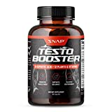 Snap Supplements Men's Testo Booster - Improves Performance Blood Flow, Promotes Muscle Fast, Optimizes Natural Stamina, Energy, Endurance and Strength - 60 Capsules