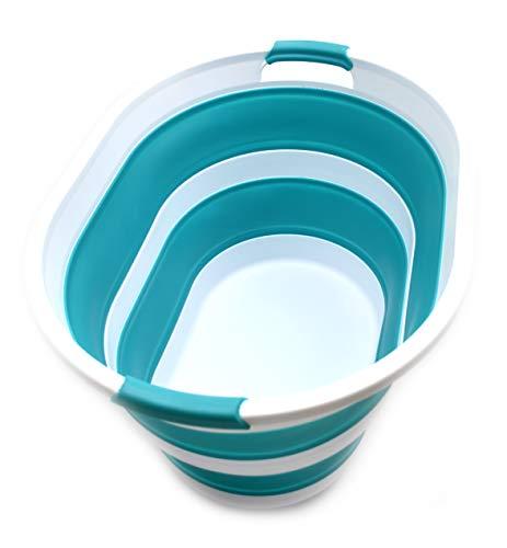 Sammart - Cesta plegable de plástico para la colada (33,5 L)