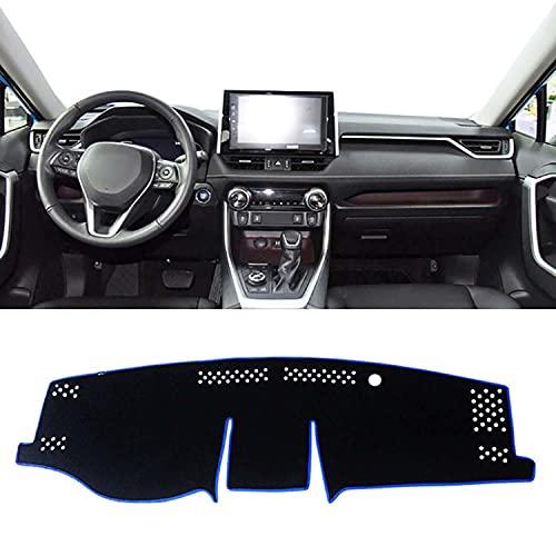 NUIOsdz Tablero de coche evitar almohadilla de luz plataforma de instrumentos cubierta de escritorio alfombras, para Toyota RAV4 2019 2020