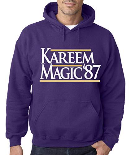 Purple Los Angeles Magic Kareem 87' Hooded Sweatshirt Adult