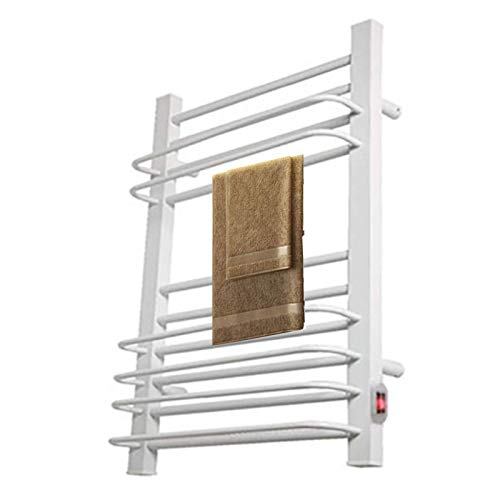 N/Z Home Equipment Towel Drying Rack Wall Mount 16 Bars Towel Warmer 200w Low Consumption Heated Towel Rack Super Quiet And Easy to Install for Home and BathroomWhite US plug