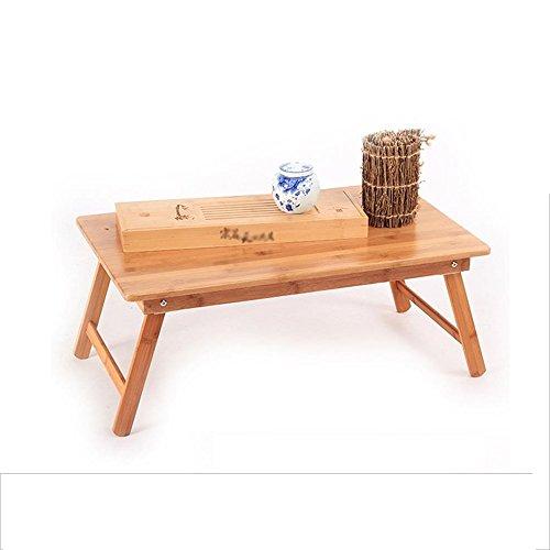 X-L-H Relaxdays Plateau en Bambou, Pliable, Table Pliable pour Ordinateur Portable, Table De Bar Portative, Plateau De Service pour Le Petit Déjeuner Au Lit avec Pieds Pliants comme Plateau Et Table