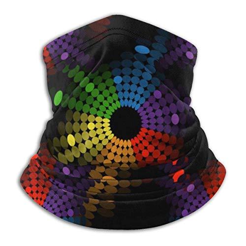 N / A Círculos De Colores De Música Sombreros Lavable Bandana Respirable Cubierta De La Cara Unisex Cuello Pañuelo para Mujer Hombre