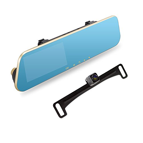 AUTO-VOX M2 1080P HD Rearview Mirror Dash Cam with...