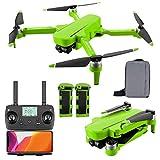 ANAN Drone RC GPS Pieghevole, 6K GPS Drone con Telecamera HD, Trasmissione WiFi 5G, 1000m di Distanza del Telecomando, Gimbal Auto stabilizzante a 2 Assi, per 60 Minuti Volo,Verde