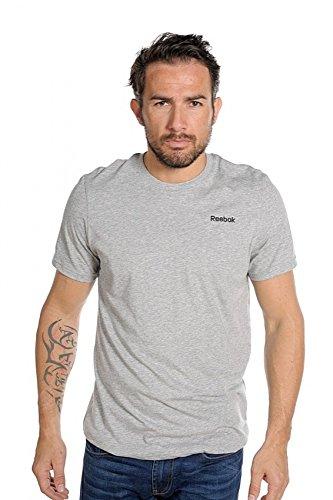 Reebok T-Shirt Elements Classic Training - Camiseta de Fitness para Hombre, Color Gris, Talla S