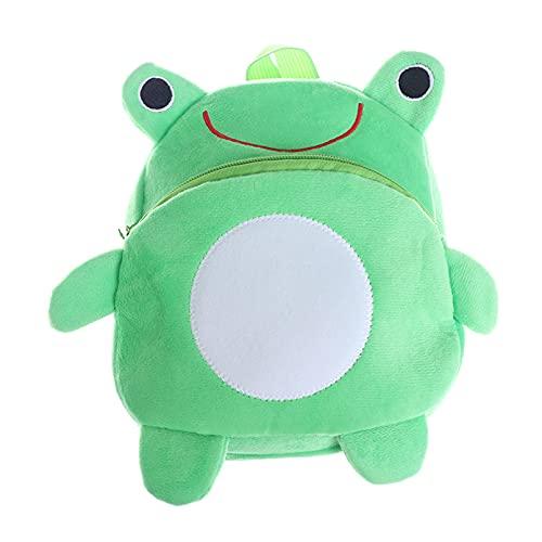 Bireegoo Mini mochila de animales de dibujos animados rana bolsa de escuela mochila de bebé niños bolsas de la escuela de los niños mochila de felpa para cumpleaños