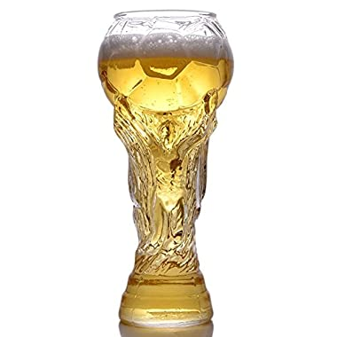KIKITOY Creative Beer Mug Unique Design Crystal Cup 2018 Russia FIFA World Cup Boots Design Beer Glass Cocktail Cup Club Stein