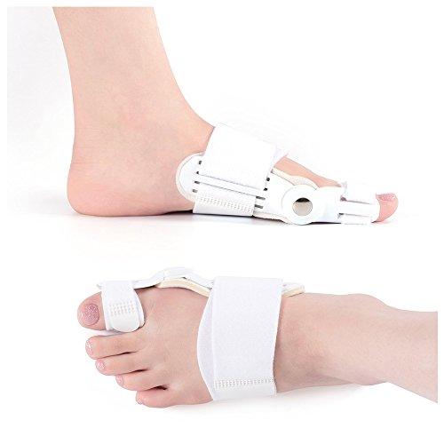 2 piezas de corrector de juanetes ortopédicos para alivio de juanetes, almohadillas correctoras Hallux Valgus para juanetes, separador de dedos de martillo, protector de botas para juanetes
