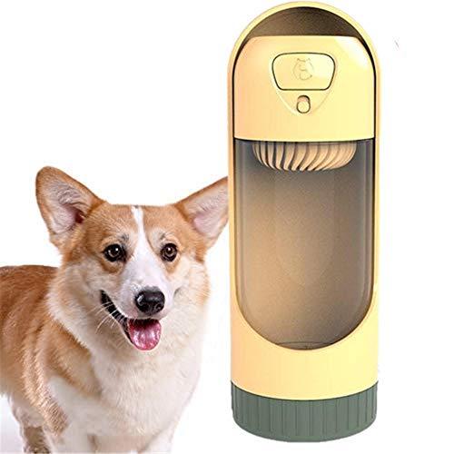ZUOLUO Bebedero Perro Portatil Botella de Agua para Perros Dispensador de Botellas de Agua para Perros Botella de Bebida para Perros a Prueba de Fugas Orange