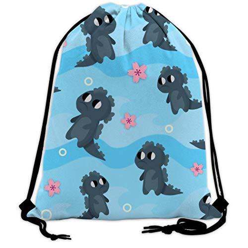 973 Unisex Drawstring Bags Monster Casual Backpack, Sackpack Cinch Bag Bulk String Bag for Gym Sport