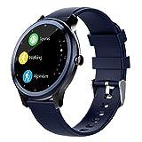 LQLQ Plein écran Tactile Intelligent Montre étanche IP68 Natation Relojes Inteligentes Chronomètre Moniteur de fréquence Cardiaque Fitness Tracker Smartwatch,B