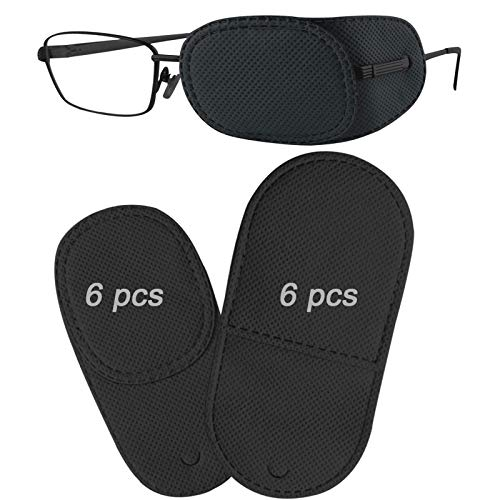 12PCS Eye Patches for Adults Kids, Medical Eye Patch for Glasses, Treat Lazy Eye Amblyopia Strabismus Patch, 2 Size