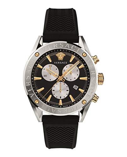 Versace V-Chrono - Reloj solo tiempo para hombre, moderno, cód. VEHB00119