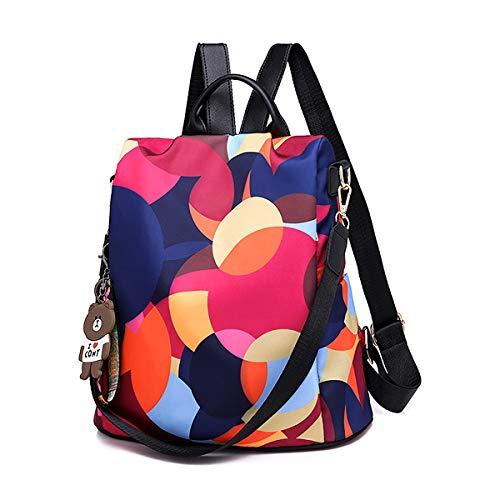 Diebstahlschutz Damen Rucksack | Wasserdichter Rucksack für Damen aus Oxford | Leichte Stilvolle Schultaschen für den Täglichen Gebrauch Ausgehen Reisen Arbeiten