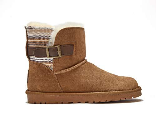 Reissner Lammfelle Lammfell Boots Meine Hellbraun Halbstiefel Schlupfstiefel Winterstiefel (Halbschaft) Hellbraun, Größe 40