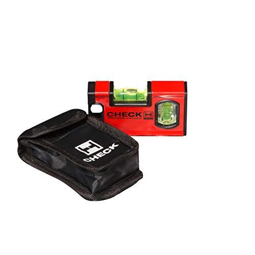 Handler 771 CHECK Mini Wasserwaage, Pocket Size 10 cm, magnetisch mit Tasche