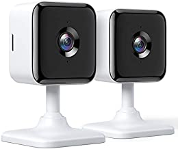 Teckin Cam 1080P FHD Indoor Wi-Fi Smart Home Security Camera with Night Vision, 2-Way Audio, Motion Detection, Omnidirection for Baby/Pet/Nanny/Elderly, Works with Alexa & Google Home, 2 Packs