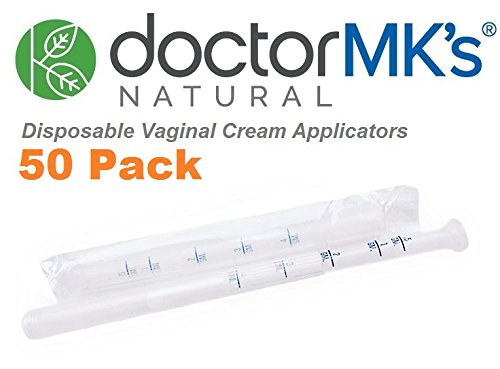 Vaginal Applicators (50-Pack) Fits Premarin Estrace Contraceptive Gels and Many More Creams, Individually Wrapped Disposable Applicator Dosage Marked by Doctor MK's