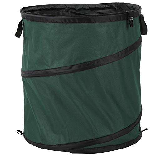 Moolo Outdoor Tragbare Faltbare Abfälle Oxford Tuch Container Mülleimer Can Eimer Für Camping Picknick Grün 55x50cm