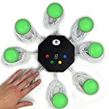 trebisky quiz answer game buzzer standalone system w/ led light buttons 8-player 3ft cables who?s