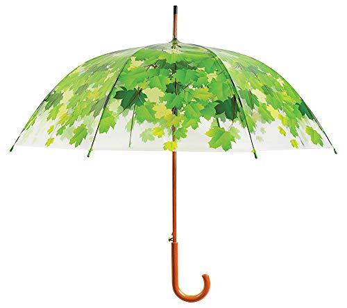 zeitzone Regenschirm Blätter Baumkrone Transparent Stockschirm Durchsichtig