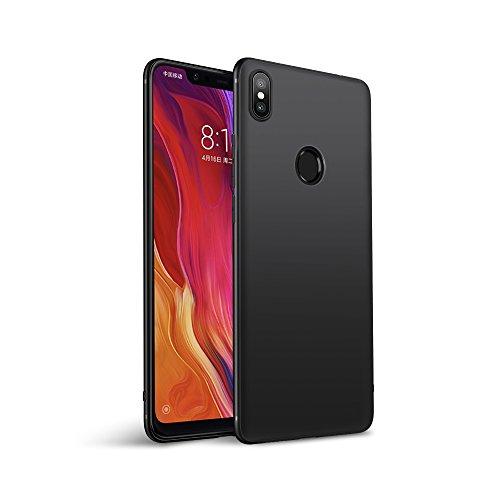 Olliwon Xiaomi Mi 8 Hülle, Passgenaues Anti-Fingerabdruck Dünn Leicht Ultra Slim Schutz Handyhülle Bumper Case für Xiaomi Mi 8 - Matt Schwarz