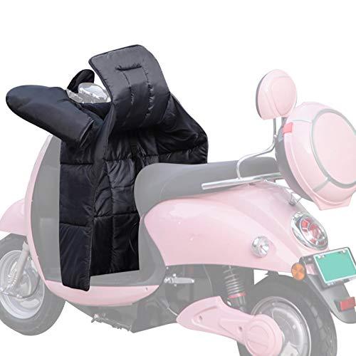 Protector de piernas para scooter, con manguito de manillar, cubrepiernas y cubrepiernas impermeable, protección contra el frío y la lluvia para el invierno