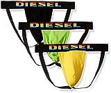 Diesel Herren Jocky 3 Pack Jockstraps Tiefschutz, schwarz/gelb, X-Large
