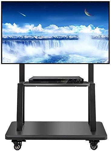 Inicio Equipo Soporte para TV Soporte Soporte para TV Mesa Soporte giratorio para TV Carrito alto giratorio independiente con estante Se adapta a 55/60/65/70/75 pulgadas LCD LED Plasma Panel de pan