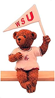 The Ridgewood Collection Washington State Cougars WSU Sports Football Basketball Bleacher Bear TS Holding Flag Figure
