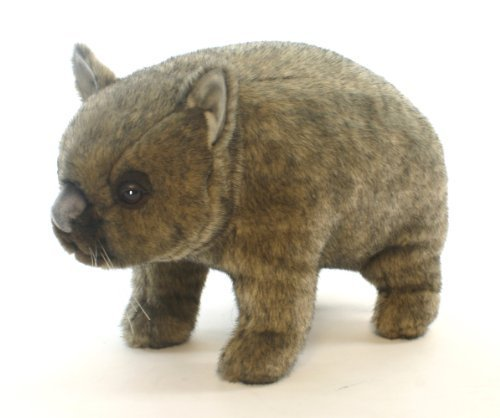 Farm Wombat Stuffed Animal with Posable Limbs by Hansa Toys (English Manual)