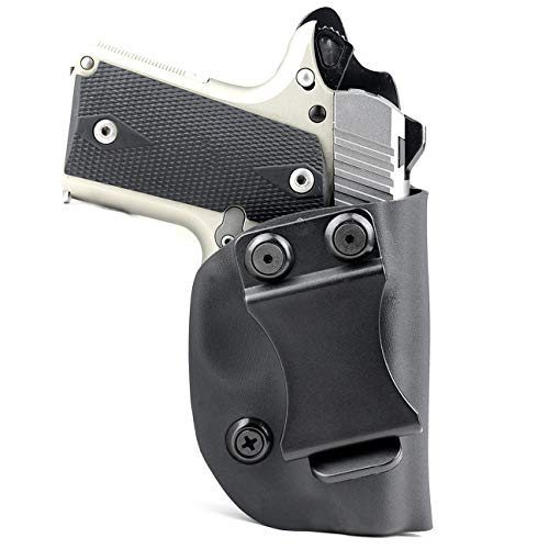 Matte Black - Kydex Concealment IWB Holster (Right-Hand, Kimber Micro 9mm)