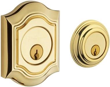 Baldwin 8238.003 Bethpage Deadbolt 2-1/8-Inch Door Prep, Lifetime Polished Brass