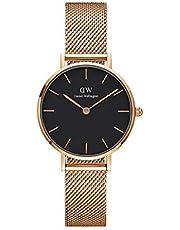 Daniel Wellington Petite Melrose, orologio da donna, 28 mm, in mesh, colore: oro rosa