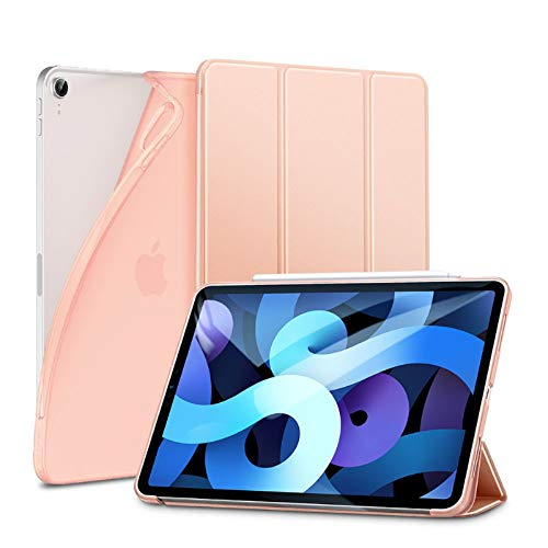 ESR Slim Cover Compatibile con iPad Air 4 (2020) 10.9' [Due Modi di Piegatura e inclinazione] [Custodia Posteriore Morbida in TPU] Serie Rebound - Oro Rosa