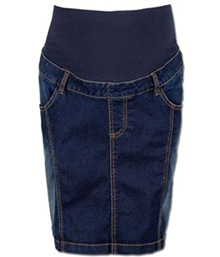 Valja Umstandsmode Umstandsrock Jeansrock Jeans Gr. S, M, L, XL blau NEU