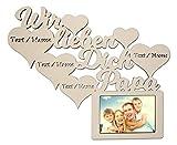 Namofactur Individuelle Papa Geschenke zum Geburtstag I Wir lieben Dich Bester Papa der Welt Bilderrahmen für 10 x 15 cm Foto Geschenkideen Geburtstagsgeschenk
