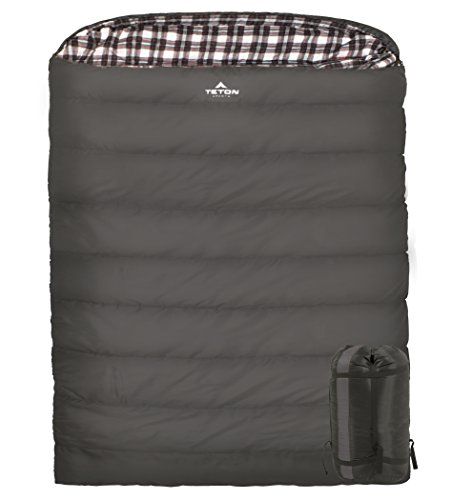 TETON Sports Fahrenheit Mammoth Queen-Size Double Sleeping Bag; Warm and Comfortable; Double Sleeping Bag Great for Family Camping; Compression Sack Included