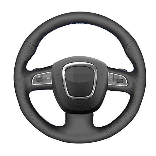 ZpovLE Cubiertas Negras para Volante de Coche, aptas para Audi A3 8P Sportback A4 B8 Avant A5 8T A6 C6 A8 D3 Q7 8R Q5 4L S4 S3