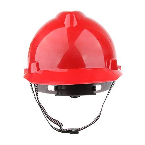 Construcción Sombrero Trabajo Casco De Seguridad Protección Solar Ala Completa Rojo Blanco - rojo