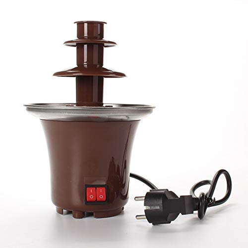 MDSQ Schokoladen-Brunnen Mini Fondue Set, elektrische 3-Tier-Maschine mit Hot Melting Pot Basis, Warmhaltefunktion