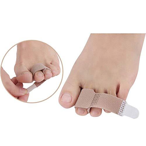 Protector de Dedo del pie 10 Pack Dedo Separador de férula Protector Secreto Engrosamiento Martillo Vendaje Corrector de pies Cuidado de Hierro Herramienta de protección de Dedos
